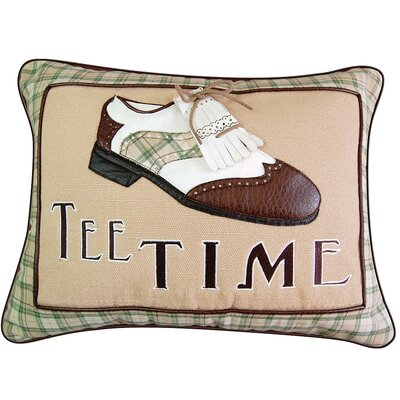 In the Fairway Tee Time Vintage Golf Shoe Applique Boudoir/Breakfast Pillow by Rightside Design