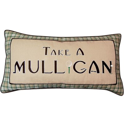 In the Fairway Take a Mulligan Golf Throw Pillow by Rightside Design