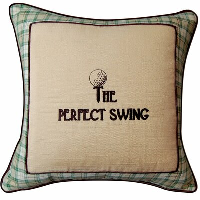 In the Fairway the Perfect Swing Golf Throw Pillow by Rightside Design