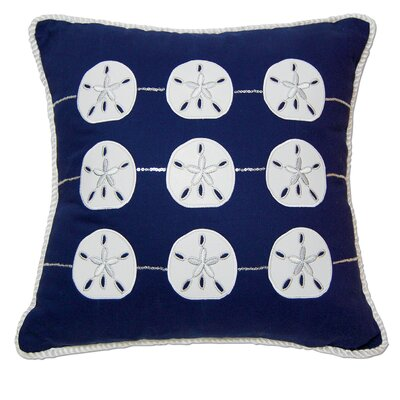 I Sea Life Embroidered and Appliqué Sand Dollar Cotton Throw Pillow by Rightside Design