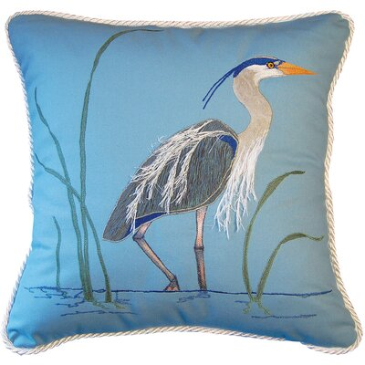 I Sea Life Great Heron Toss Cotton Throw Pillow by Rightside Design