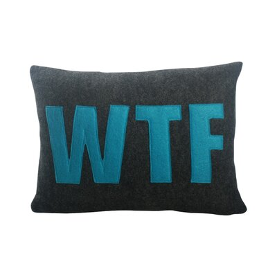 Wayfair Modern Pillow : Alexandra Ferguson Modern Lexicon WTF Lumbar Pillow & Reviews Wayfair