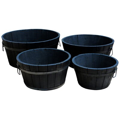 Shine Company Inc. 4 Piece Round Pot Planter Set