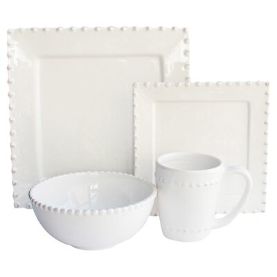 Bianca Bead 16 Piece Dinnerware Set by American Atelier