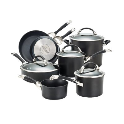 Symmetry Hard Anodized Nonstick 11 Piece Cookware Set by Circulon