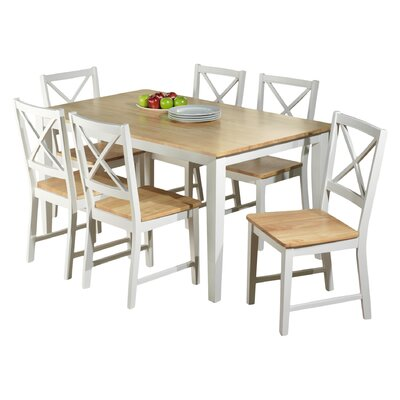 Crossback 7 Piece Dining Set by TMS