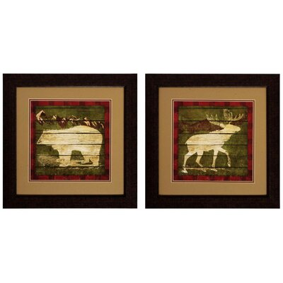 Bear & Moose Framed Wall Art by Propac Images
