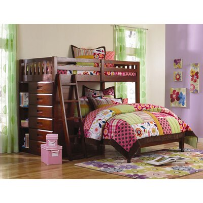 Discovery World Furniture Weston Twin Over Full L Shaped Storage Bunk Bed Bed 2805