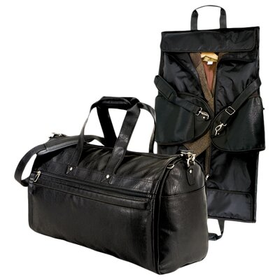 Koskin Leather 2-in-1 Carry On Garment Bag by U.S. Traveler