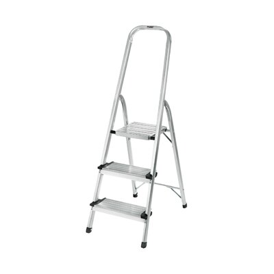 Polder 3 Step Aluminum Ultralight Folding Step Stool with 225 lb. Load Capacity