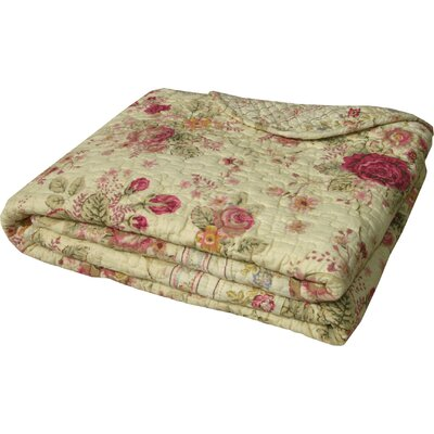 Antique Rose Cotton Throw by Greenland Home Fashions