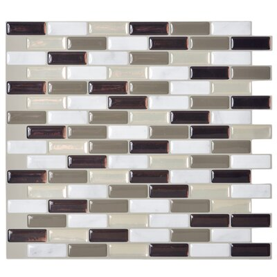 "Mosaik 9.13"" x 10.3"" Mosaic Tile in Gray Product Photo"