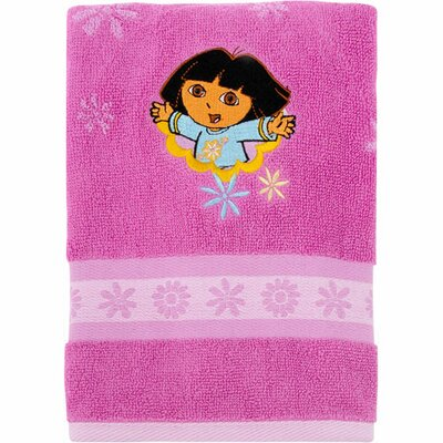 Franco Manufacturing Nickelodeon Dora the Explorer Embroidered Hand Towel