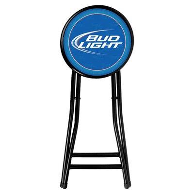 trademark global bud light 24 bar stool with cushion reviews. Black Bedroom Furniture Sets. Home Design Ideas
