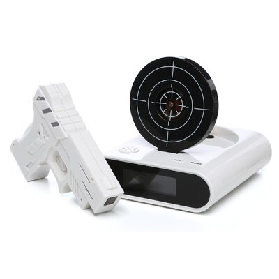 Trademark Global Gun & Target Recordable Alarm Clock