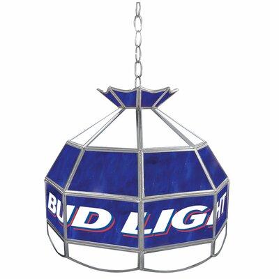 """Trademark Global Bud Light 16"""" Budweiser Tiffany Light Fixture"""
