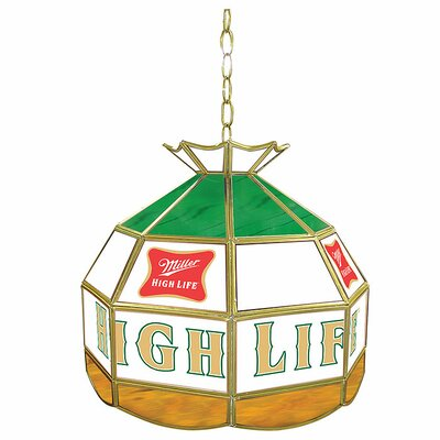 "Trademark Global Miller High Life 16"" Stained Glass Tiffany Lamp"