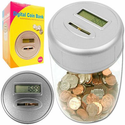 Trademark Global Ultimate Automatic Digital Coin Counting Bank