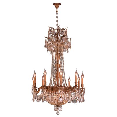 Winchester 15 Light Crystal Chandelier by Worldwide Lighting