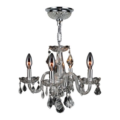 Clarion 4 Light Crystal Chandelier by Worldwide Lighting