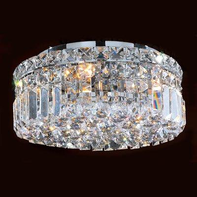 Cascade 4 Light Crystal Flush Mount by Worldwide Lighting