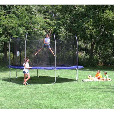 13' Square Trampoline with Enclosure Product Photo