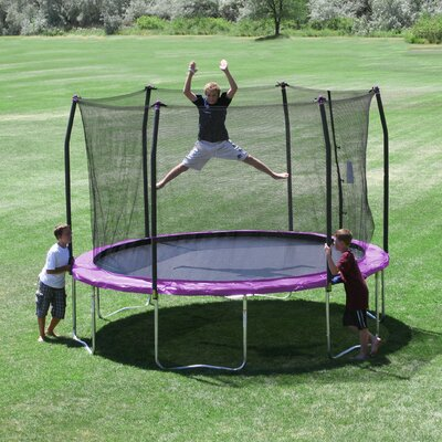 12' Round Trampoline with Safety Enclosure Product Photo