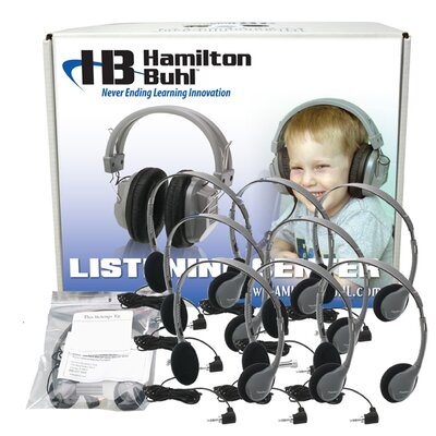 Hamilton Electronics Personal Headset Lab Pack with Carry Box