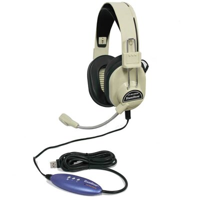 Hamilton Electronics Deluxe Stereo Headset with USB Plug