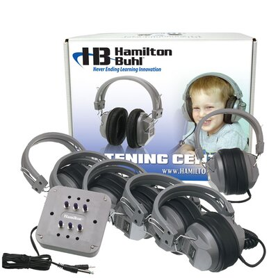 Buhl Listening Center with 6 Station Jackbox, Deluxe Headphone and ASM