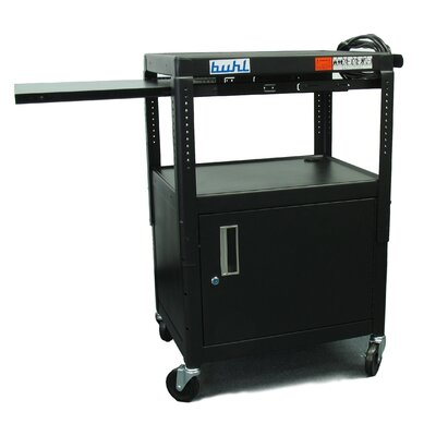 Buhl Height adjustable AV Cart with Security Cabinet