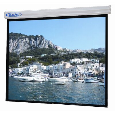 Buhl Sorrento Matte White Electric Projector Screen