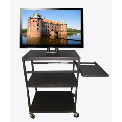 Buhl Flat Panel TV Cart with Side Pull Out Shelf