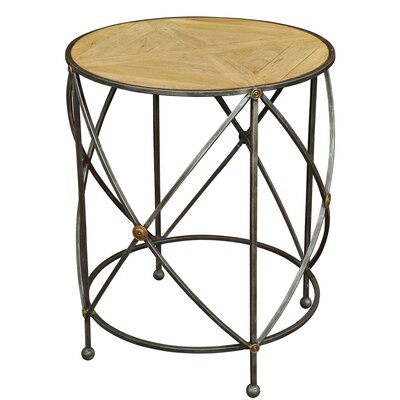 Drum and Fife Lamp Table by Sarreid Ltd