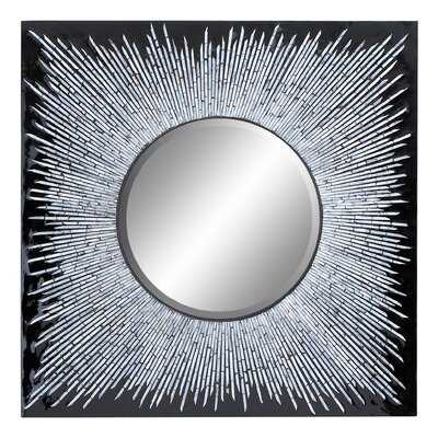 Woodland Imports Beautiful Inlay Wall Mirror