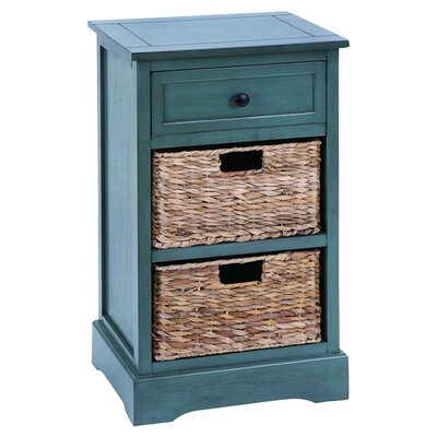 Woodland Imports Cabinet with 2 Wicker Baskets