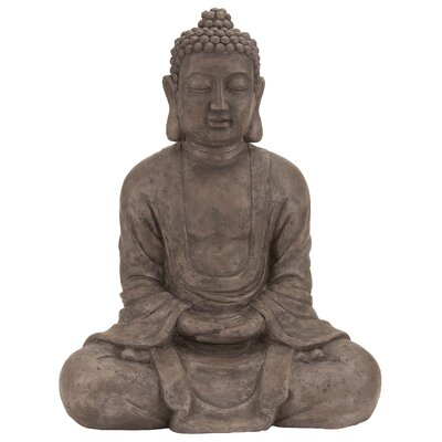 Polystone Table Top Buddha Statue by Woodland Imports