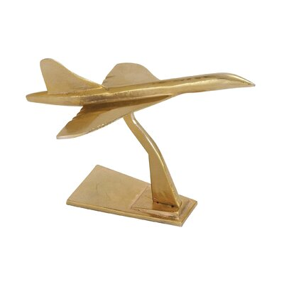 Contemporary Unique Styled Aluminum Jet Aircraft Sculpture by Woodland Imports