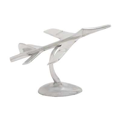Classy Aluminum Aircraft Sculpture by Woodland Imports