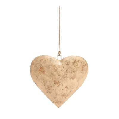 Love's Metal Gold Heart Sculpture by Woodland Imports