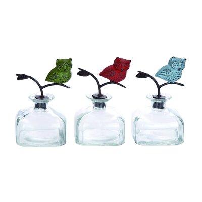 Woodland Imports Net Classy Metal Decorative Bottle Set