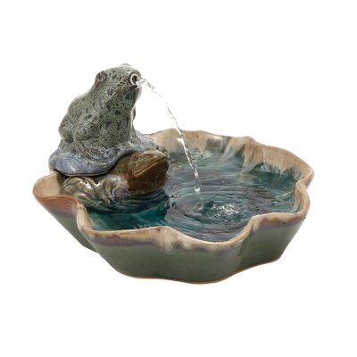Ceramic Frog Fountain by Woodland Imports