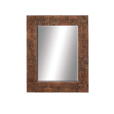 Grand Wood Wall Mirror by Woodland Imports