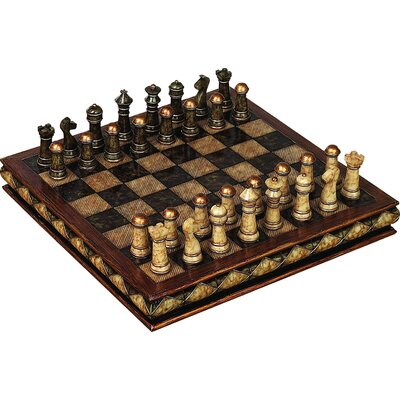 Woodland imports decorative chess set great for gift reviews wayfair - Ornamental chess sets ...