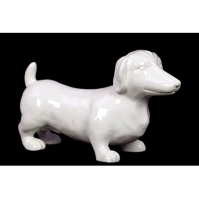 Lovely and Adorable Ceramic Dachshund Dog Sculpture by Woodland Imports