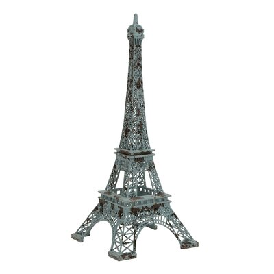 The Charming Metal Decorative Eiffel Tower Sculpture by Woodland Imports