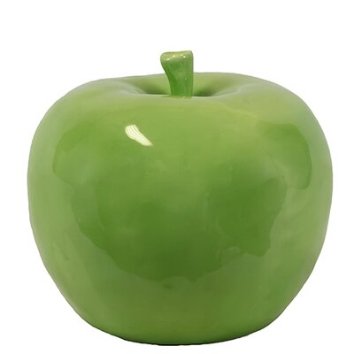 Woodland Imports Decorative Lustrous and Glossy Ceramic Apple Sculpture