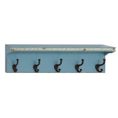 Wood Metal Wall Shelf Hook by Woodland Imports
