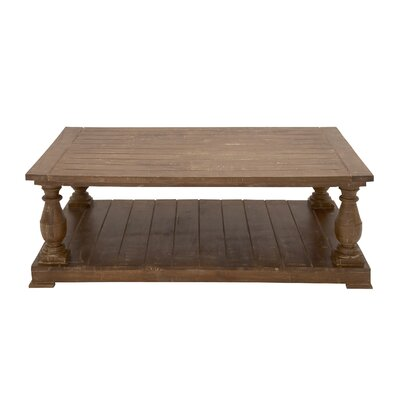 Wood Coffee Table by Woodland Imports