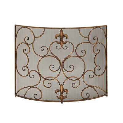 Metal Fireplace Screen by Woodland Imports